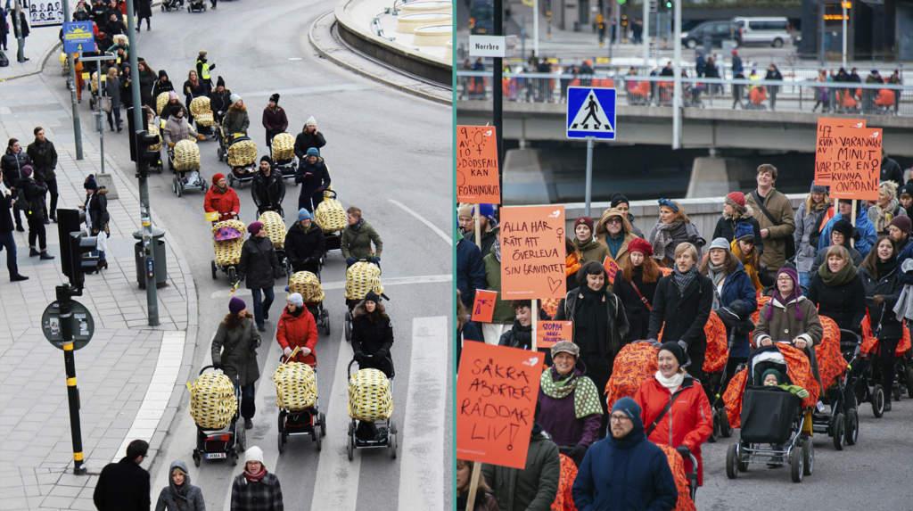 """<a href=""""https://www.aftonbladet.se/family/a/P904ye/barnvagnsmarschen-forvantas-bli-storre-an-nagonsin"""">I helgen ägde Barnvagnsmarschen rum – en manifestation mot mödradödligheten i världen</a>"""