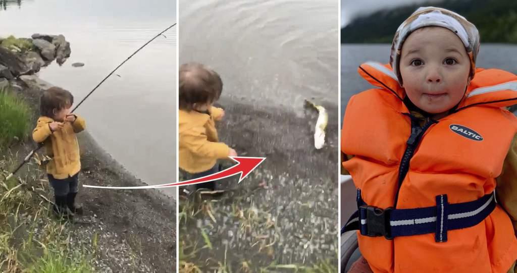 """<a href=""""https://www.aftonbladet.se/family/a/mRV99g"""">Här fångar Ossian, 2, sin första fisk</a>"""